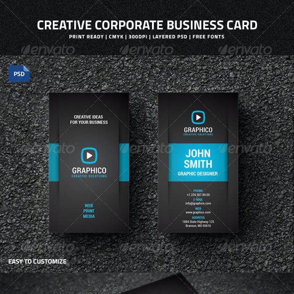 Creative Corporate Business Card - 38