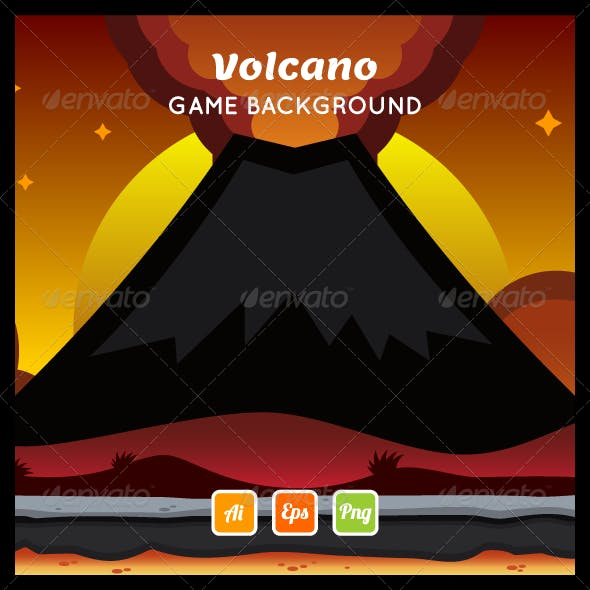 Volcano Game Background