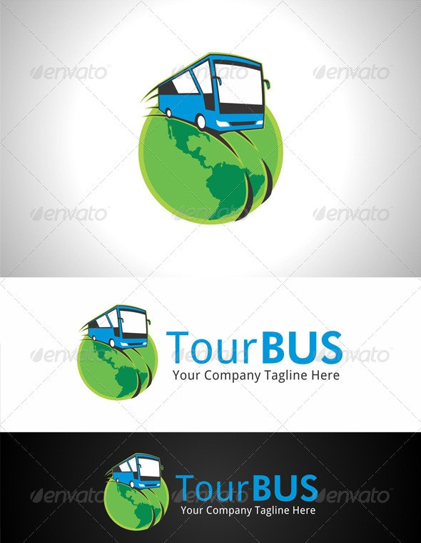 Tour Bus Logo - Objects Logo Templates