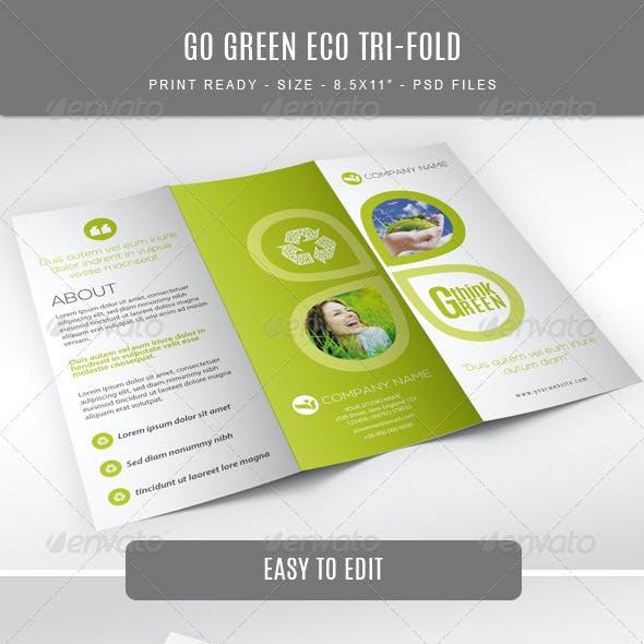 Go Green Eco Tri-Fold Brochure