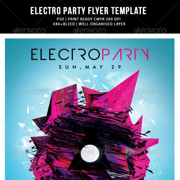 Futuristic Abstract Electronic/Dance Music Flyer