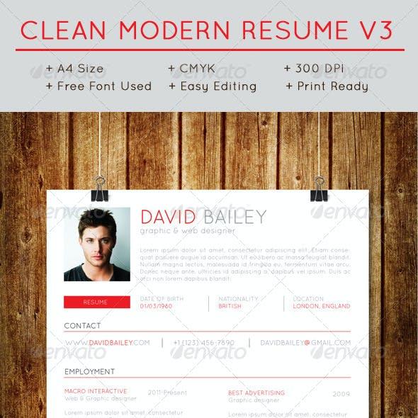 Clean Modern Resume V3