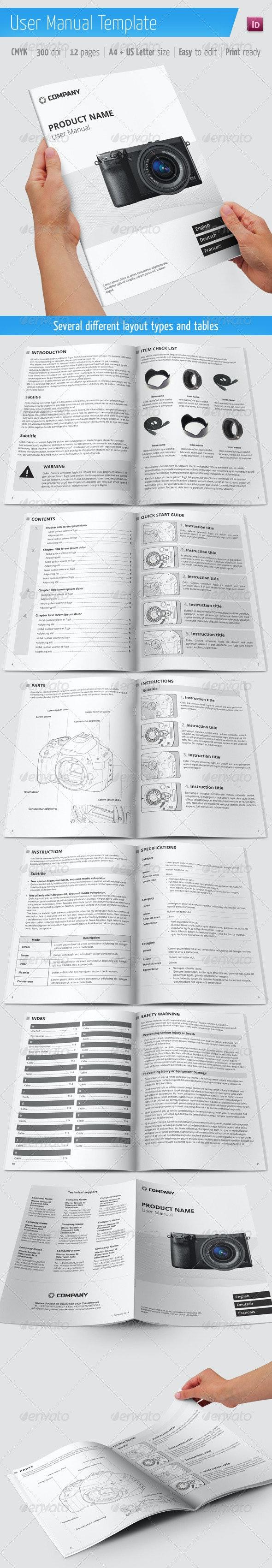 User Manual Template - Informational Brochures