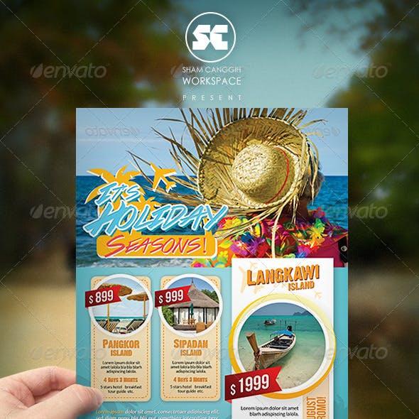 Holiday Travel Flyer / Magazine Ads
