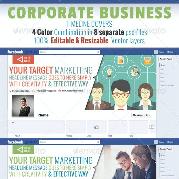 Corporate Business Timeline Covers