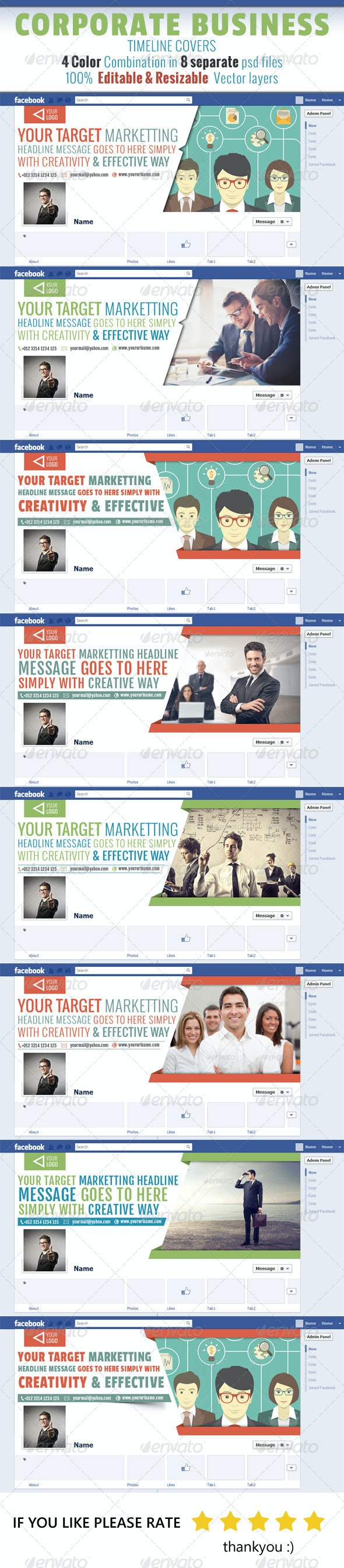 Corporate Business Timeline Covers - Facebook Timeline Covers Social Media
