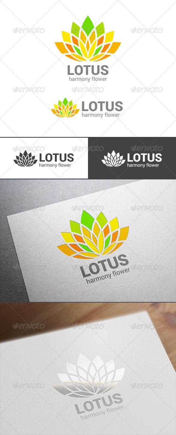 Abstract Lotus Flower Logo Template - Nature Logo Templates