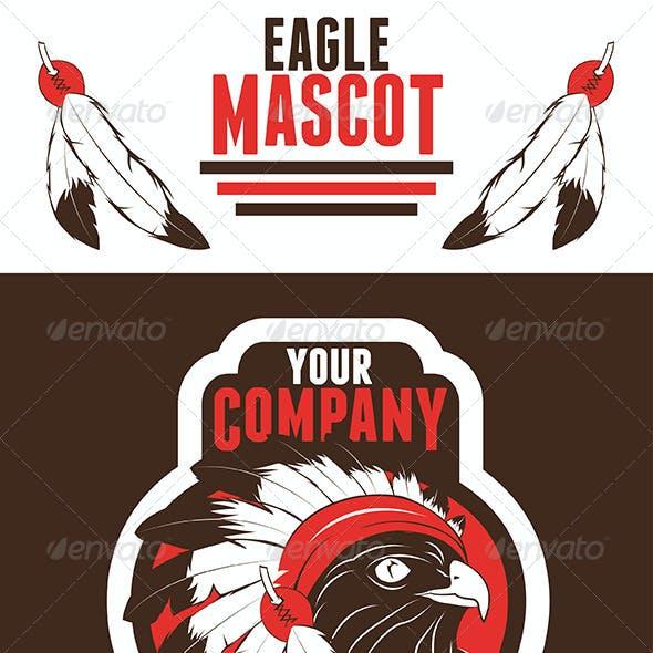 Eagle Chief Mascot Logo