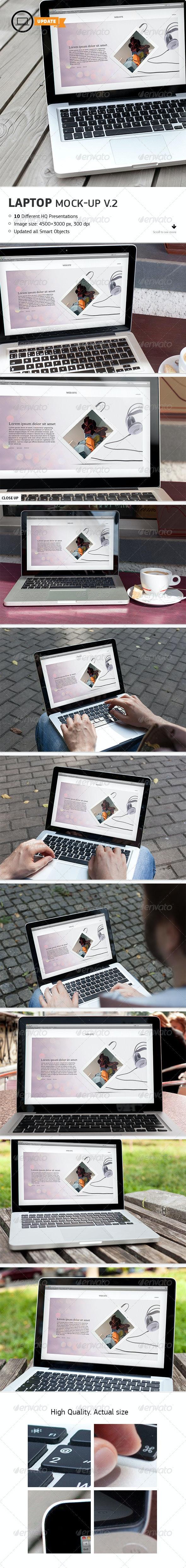 10 Laptop Mockups Vol.2 - Laptop Displays
