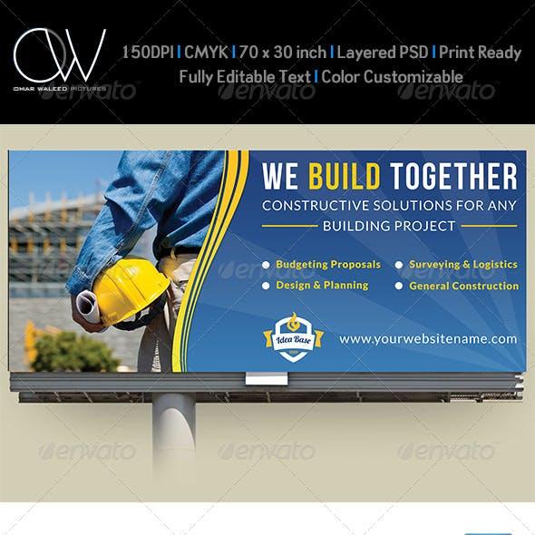 Construction Company Billboard Template Vol.2