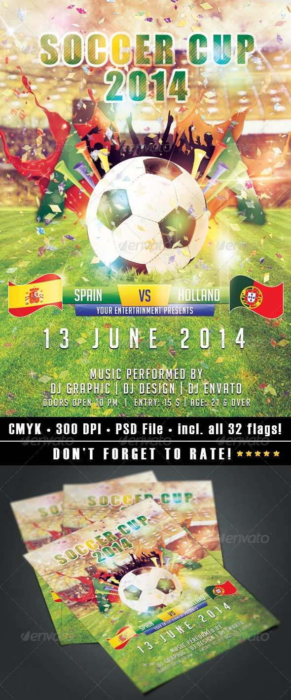 Soccer Cup 2014 flyer - Events Flyers