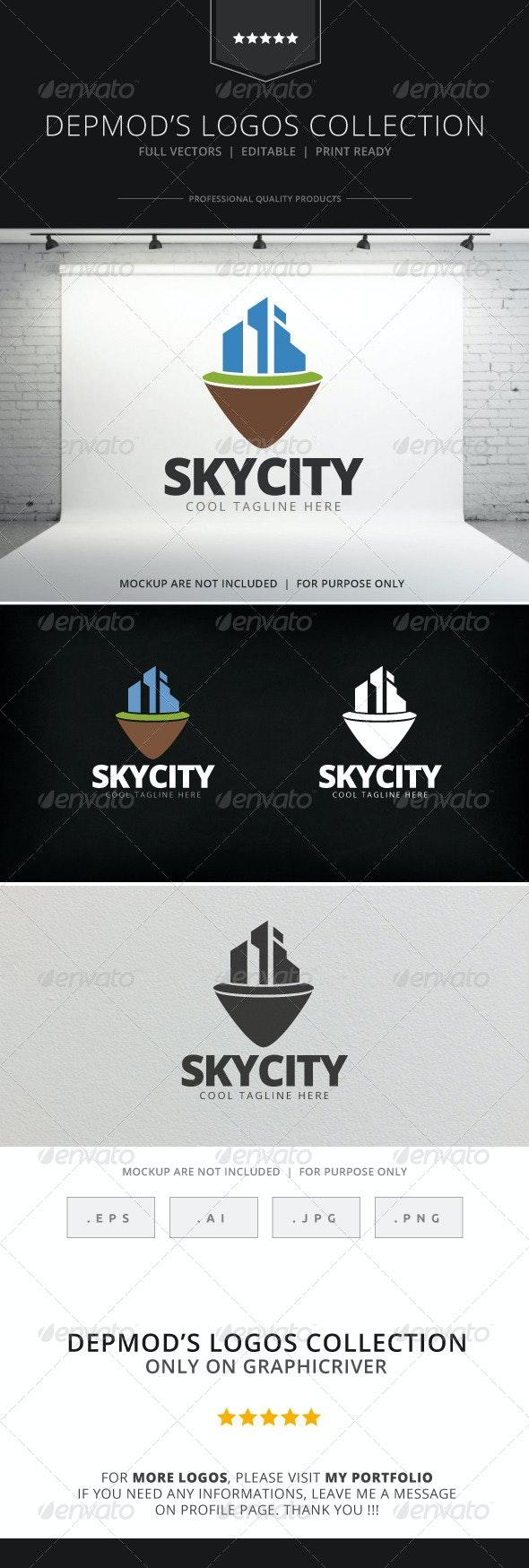 Sky City V.02 Logo - Buildings Logo Templates