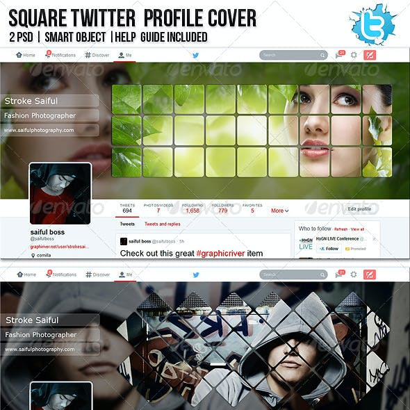 Square Twitter Profile Cover
