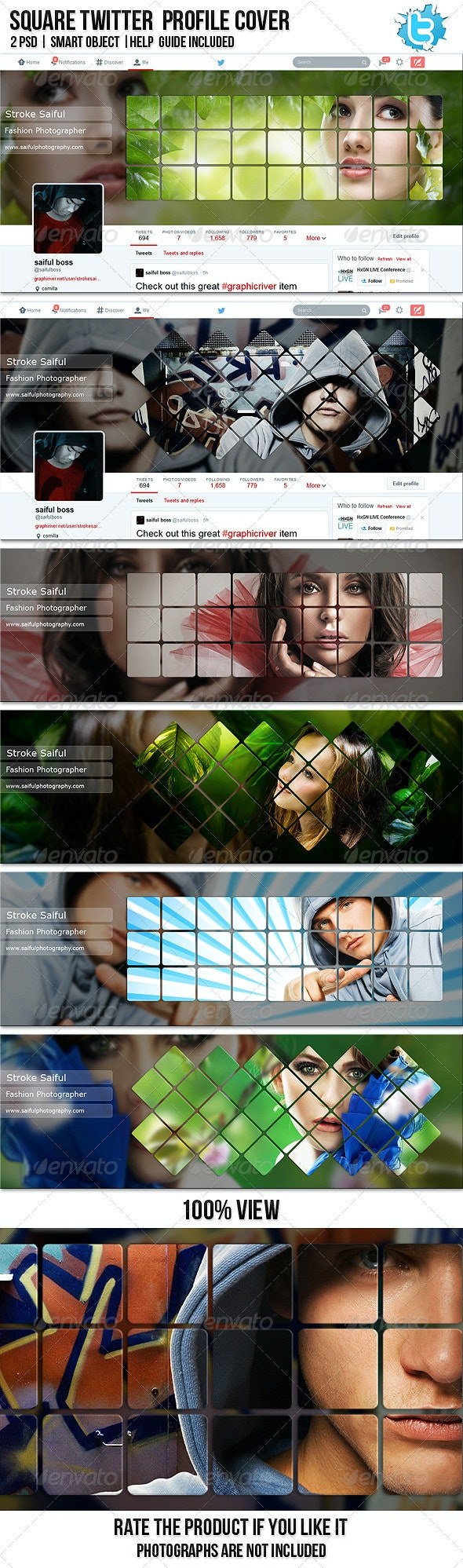 Square Twitter Profile Cover - Twitter Social Media