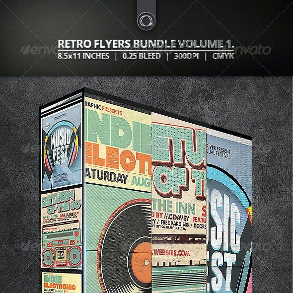 Retro Flyers Bundle Vol. 1