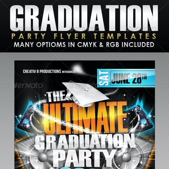 Ultimate Graduation Party Flyer Templates