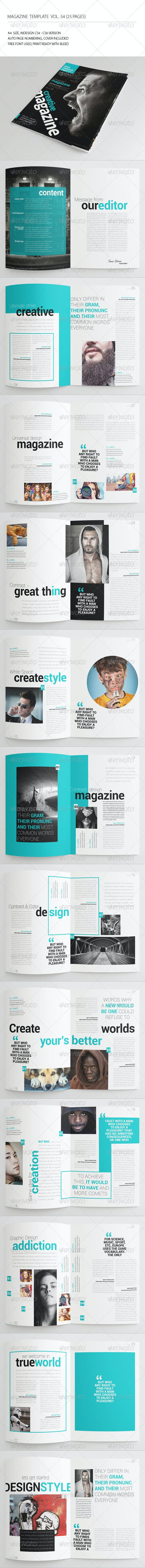 25 Pages Universal Magazine Vol54 - Magazines Print Templates