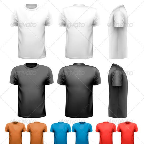 Colorful Male T-Shirts Design Template