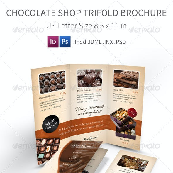 Chocolate Shop Trifold Brochure