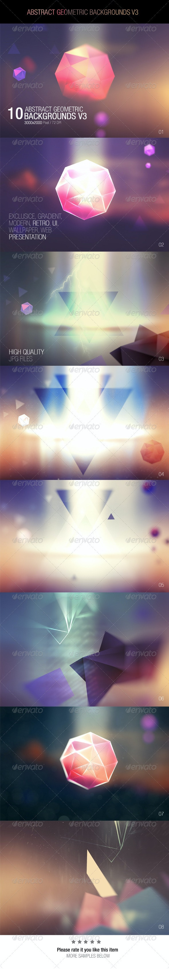 Abstract Geometric Backgrounds V3 - Abstract Backgrounds