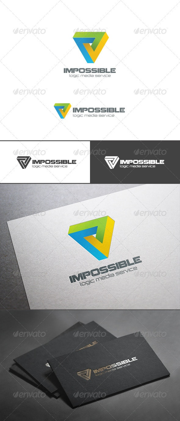 Impossible Triangle Logo Abstract Logic Rebus - Symbols Logo Templates