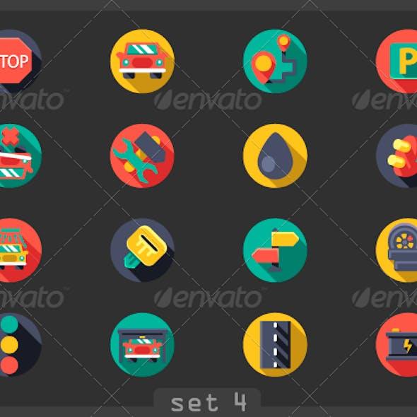 Auto Flat Icons