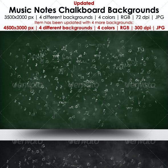 Music Notes Chalkboard Backgrounds