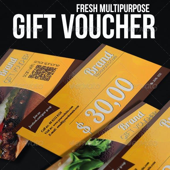Fresh multipurpose gift voucher