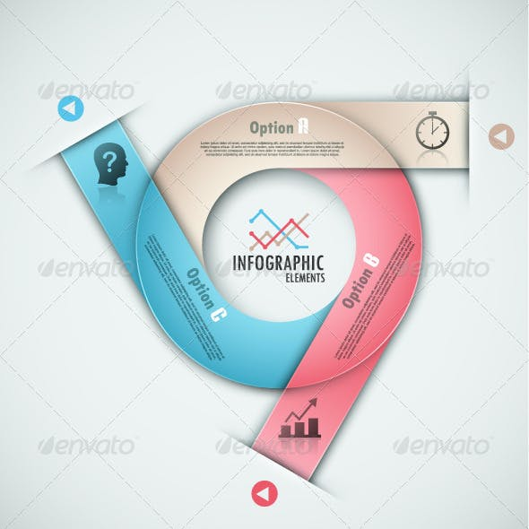 Modern Infographic Options Banner (4 Versions)