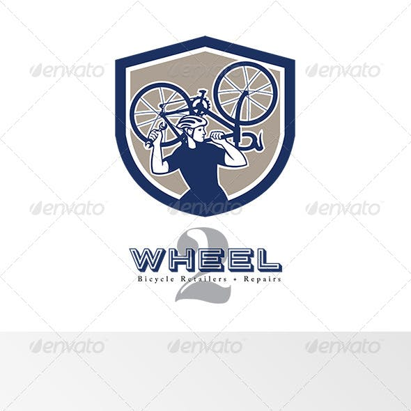 Wheel Bicycle Retailers and Repair Logo