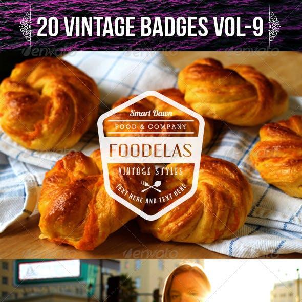 20 Vintage Badges Vol-9