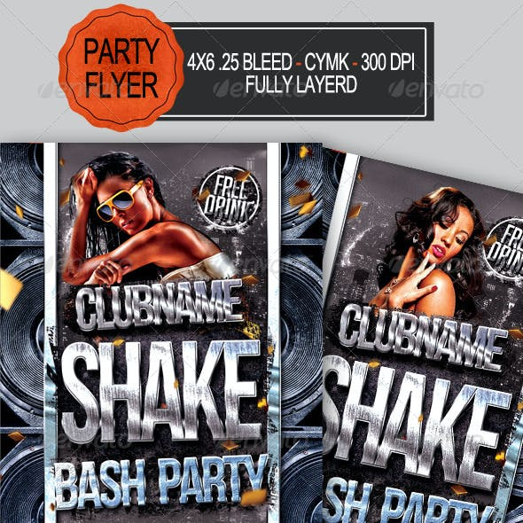 Shake Bash Party Flyer