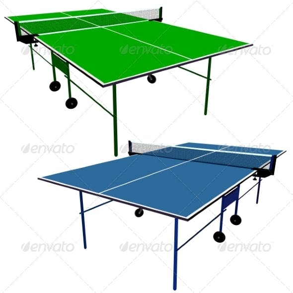 Ping Pong, Table Tennis Tables
