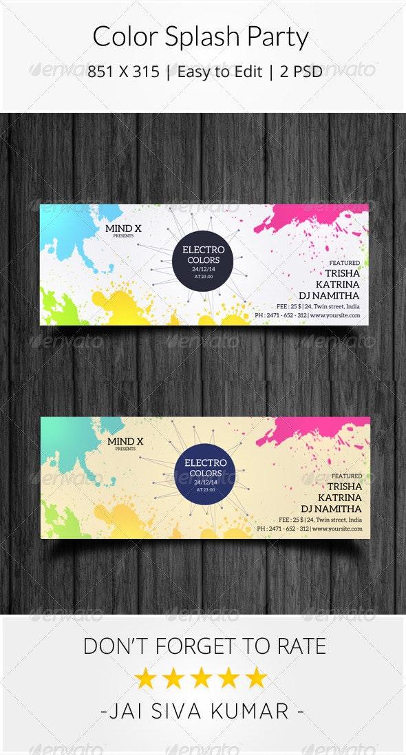 Color Splash Party Timeline - Facebook Timeline Covers Social Media