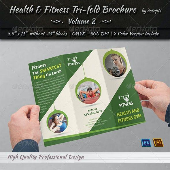 Health & Fitness Tri-Fold Brochure | Volume 2