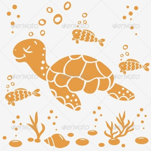 Turtle Silhouette - Animals Characters