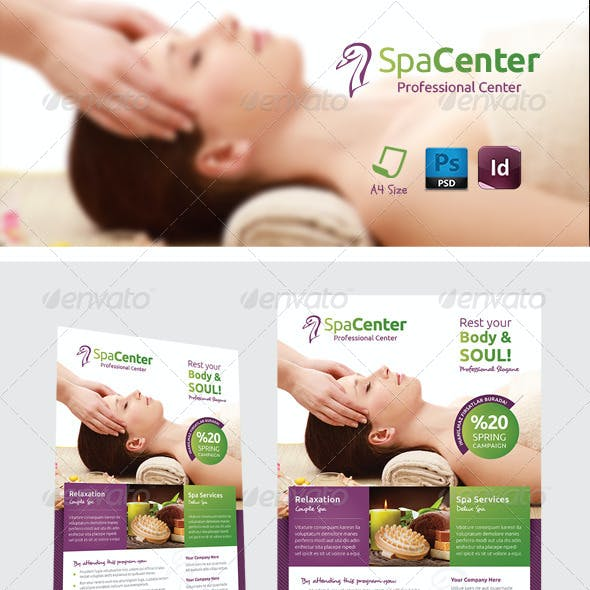 Spa House Flyer Templates