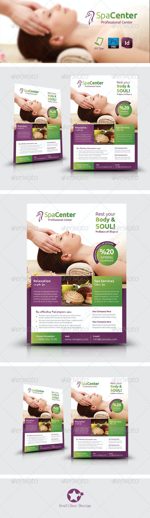 Spa House Flyer Templates - Corporate Flyers