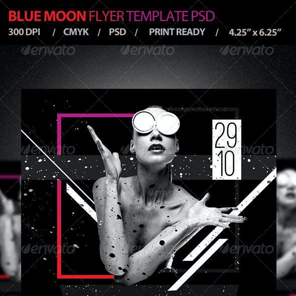 Blue Moon / Live DJ Flyer Template PSD V4