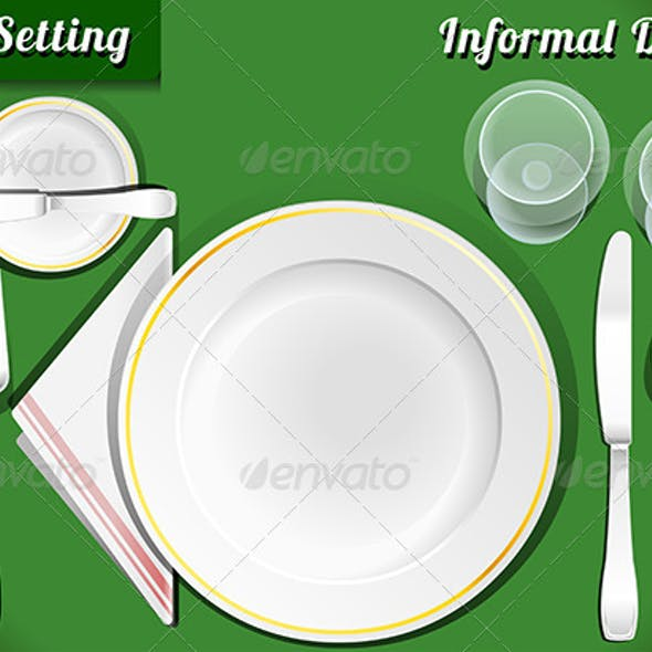 Place Setting, Informal Dinner