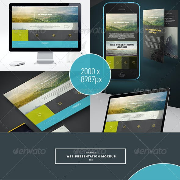 Web Presentation Mock-Up (PSD)