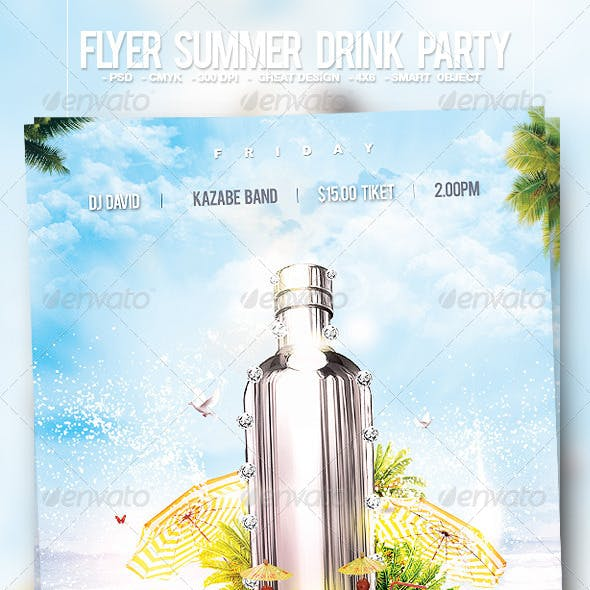 Flyer Summer Drink Party