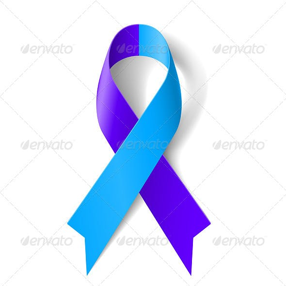 Blue and Purple Ribbon