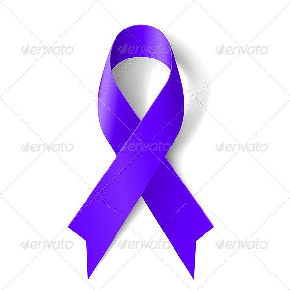 Purple Ribbon - Christmas Seasons/Holidays