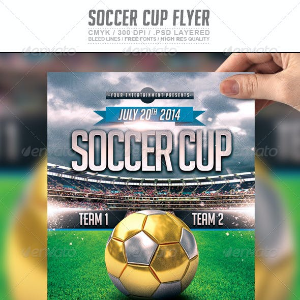 Soccer Cup | Russia 2018 Flyer PSD Template