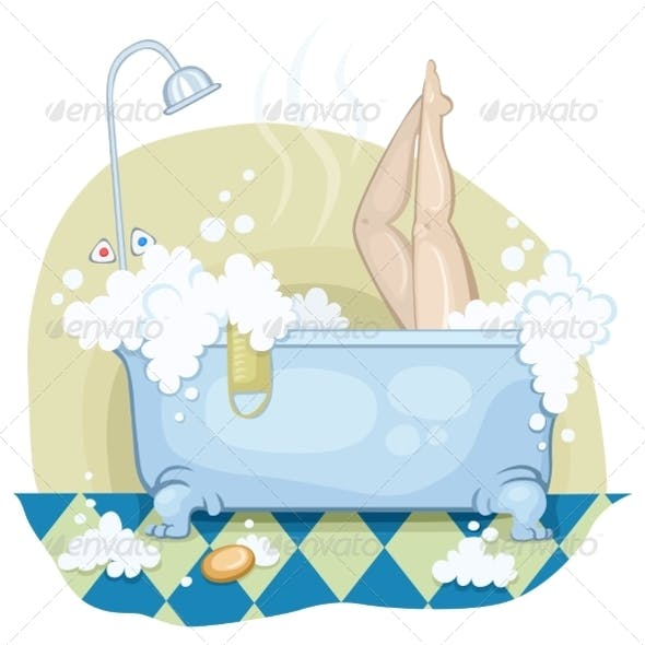 Girl in the Bath with Lather.