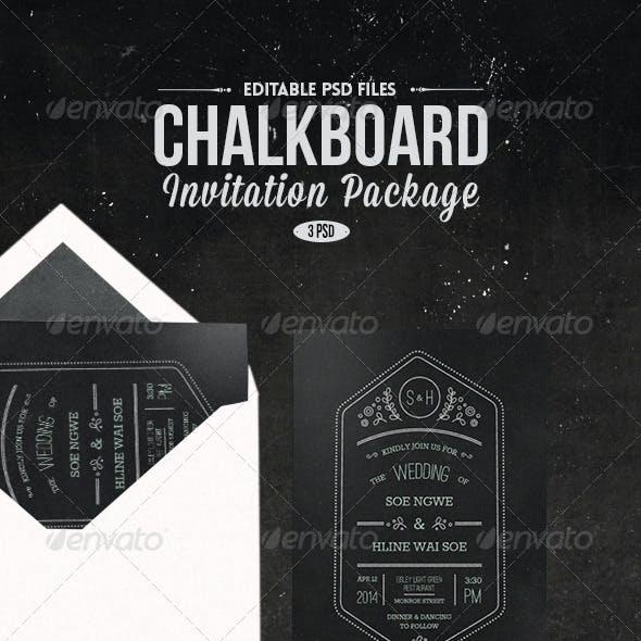 Chalk Board Invitation Package