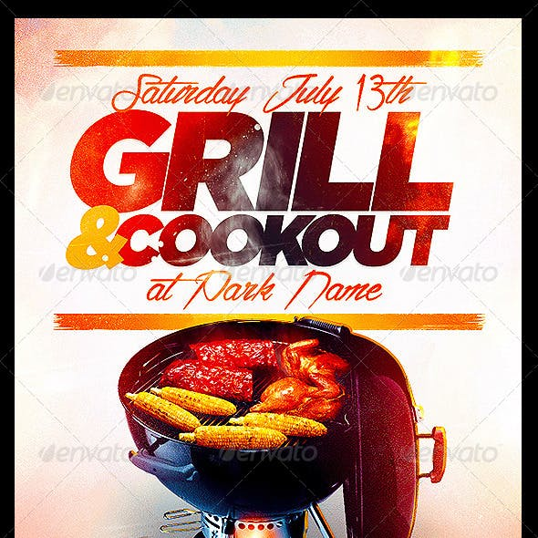 Cookout Flyer PSD