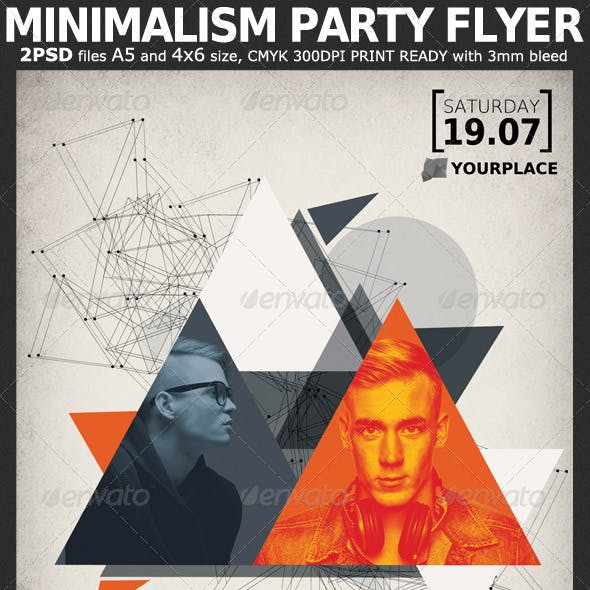 Minimalism Party Flyer Template 2