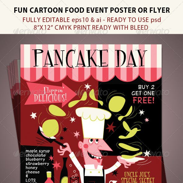 Pancake Day or Food Festival Event